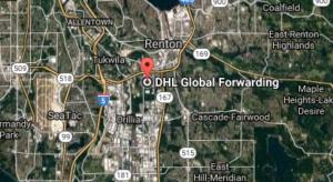 Address DHL Raymond Ave SW, Renton, WA 98057 USA