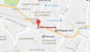 DHL California Sur Caracas Venezuela