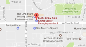 Fedex Office Print & Ship Center Chandler az 85224 Tracking Number