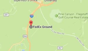 Fedex Pulliam Dr, Flagstaff Phone Tracking Package