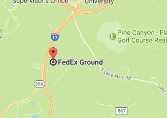 Fedex Pulliam Dr, Flagstaff Phone Tracking Package