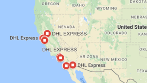 DHL California Sur Horario Tracking Number