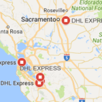 DHL California Sur Mapa Tracking Number