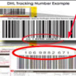 Where is Tracking Number on DHL Label