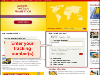 Find DHL Tracking Number By Address
